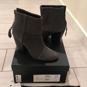 Rag n bone Newbury boot in charcoal Nubuk
